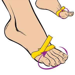 Pour mesurer votre largeur, entourez votre pied d'un centimètre de couturière ; au dessus de la jointure du gros orteil.